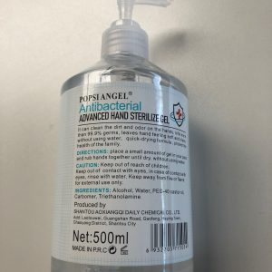 desinfecterende handgel pompflacon 500ml